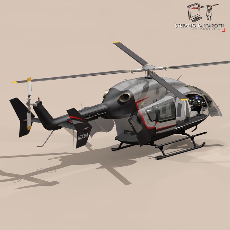 ec145 air executive 3d model 3ds fbx c4d dae obj 166059