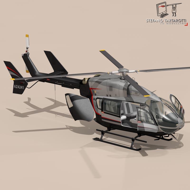 ec145 air executive 3d model 3ds fbx c4d dae obj 166060