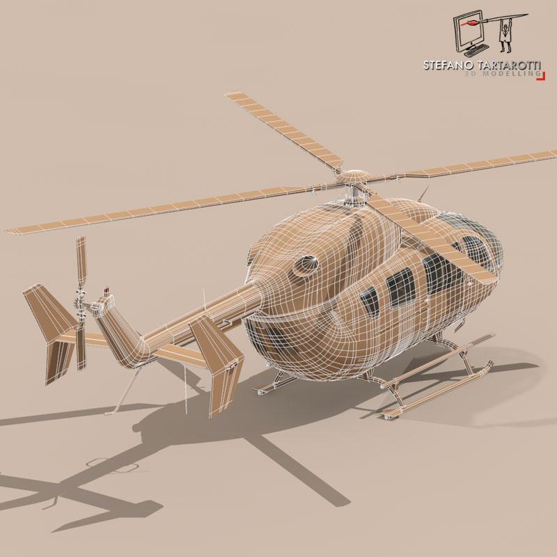 ec145 air executive 3d model 3ds fbx c4d dae obj 166061