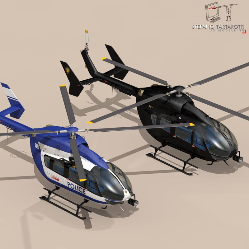 ec145 law enforcement 3d model 3ds fbx c4d dae obj 166077