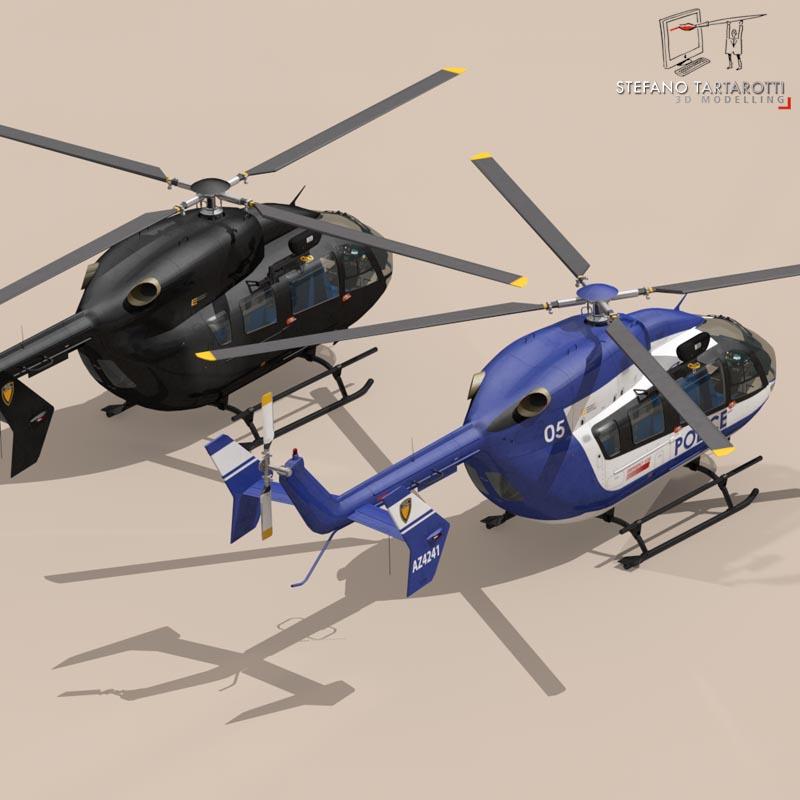 ec145 law enforcement 3d model 3ds fbx c4d dae obj 166078