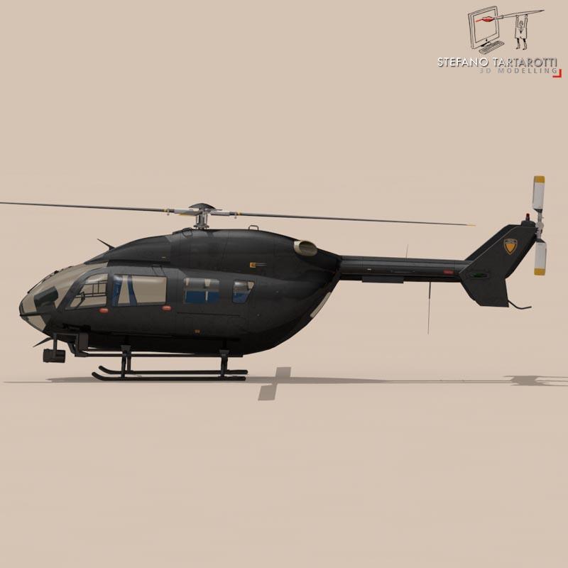 ec145 law enforcement 3d model 3ds fbx c4d dae obj 166079