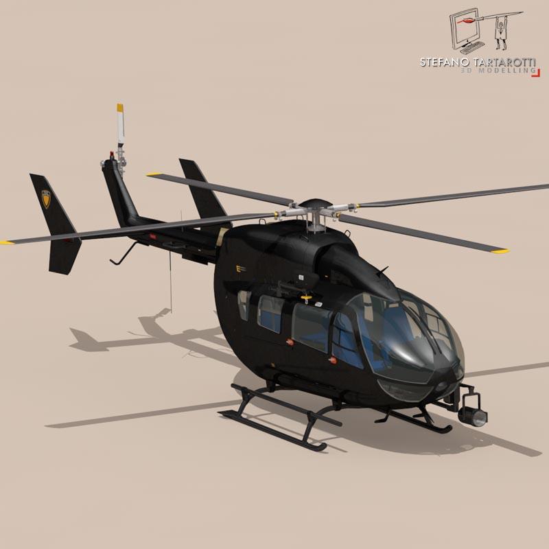 ec145 law enforcement 3d model 3ds fbx c4d dae obj 166080