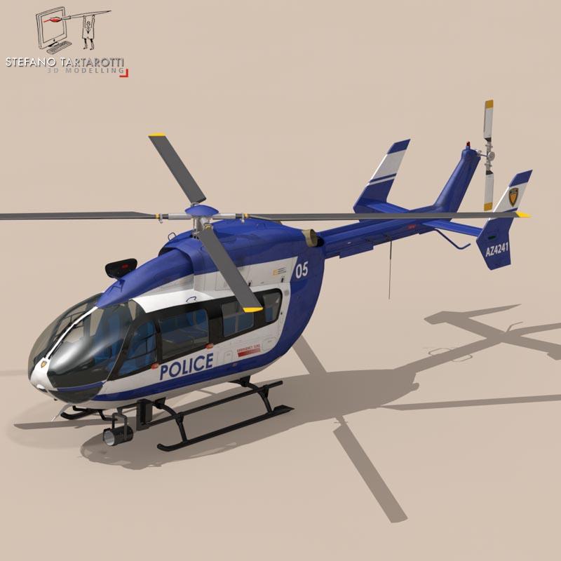 ec145 law enforcement 3d model 3ds fbx c4d dae obj 166081