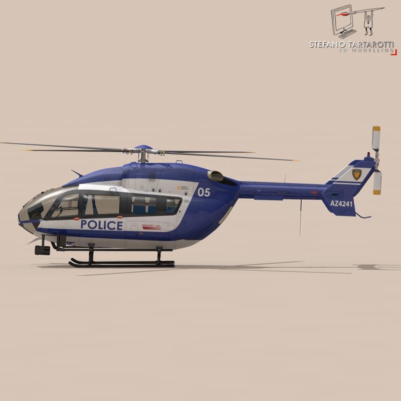 ec145 law enforcement 3d model 3ds fbx c4d dae obj 166082