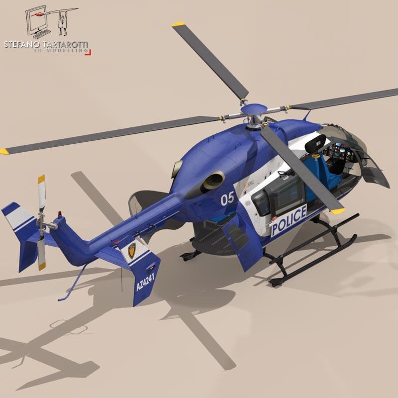 ec145 law enforcement 3d model 3ds fbx c4d dae obj 166083