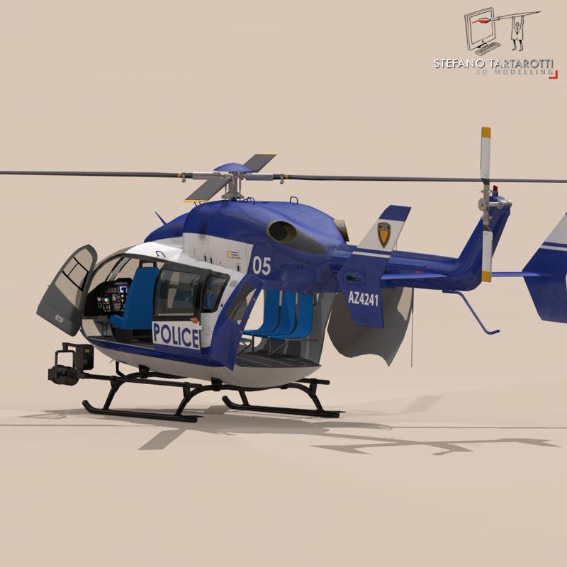 ec145 law enforcement 3d model 3ds fbx c4d dae obj 166084