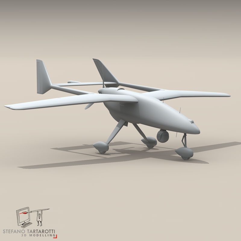 falco uav 3d model 3ds dxf fbx c4d obj 140178