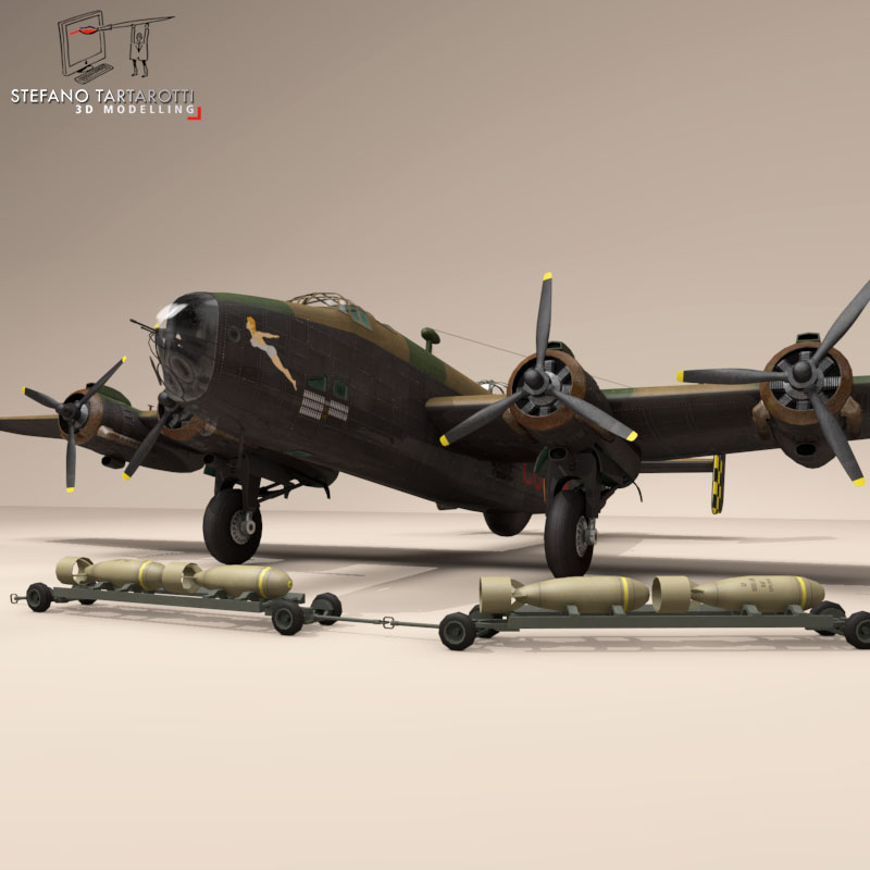 handley page halifax mk3 raf aircraft 3d model 3ds dxf fbx c4d obj 164139