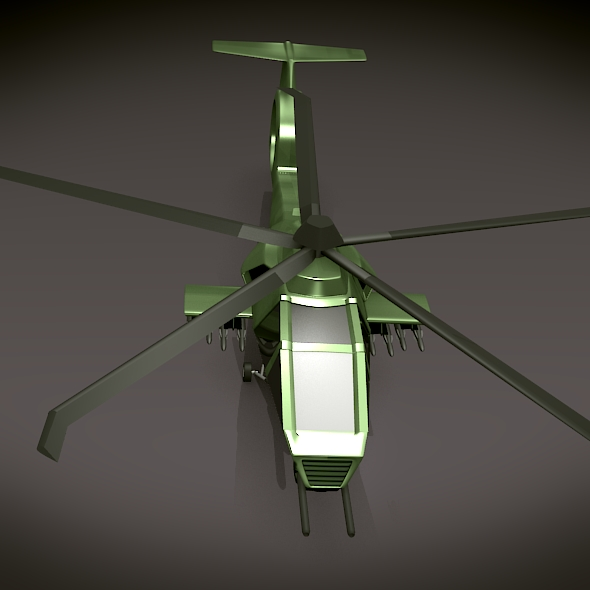 military helicopter concept 3d model 3ds fbx blend dae lwo obj 165628