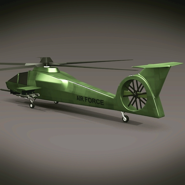 military helicopter concept 3d model 3ds fbx blend dae lwo obj 165629