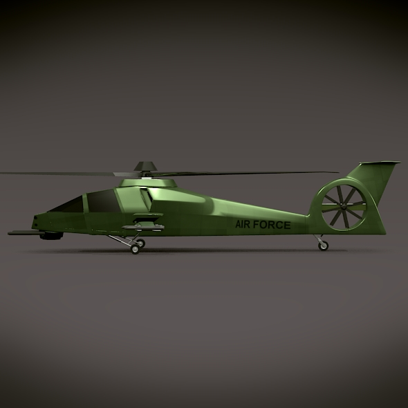 military helicopter concept 3d model 3ds fbx blend dae lwo obj 165630