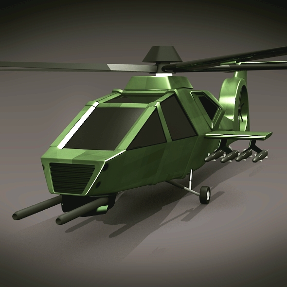military helicopter concept 3d model 3ds fbx blend dae lwo obj 165631