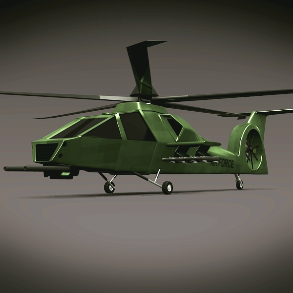 military helicopter concept 3d model 3ds fbx blend dae lwo obj 165632
