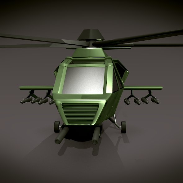 military helicopter concept 3d model 3ds fbx blend dae lwo obj 165634
