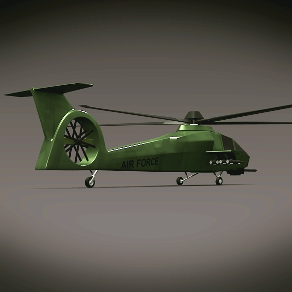military helicopter concept 3d model 3ds fbx blend dae lwo obj 165635