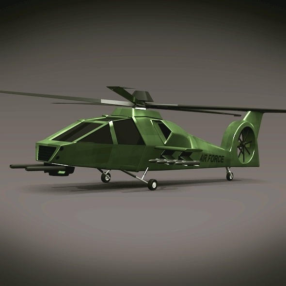 military helicopter concept 3d model 3ds fbx blend dae lwo obj 165636