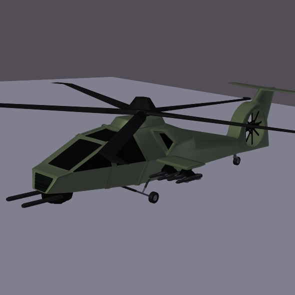 military helicopter concept 3d model 3ds fbx blend dae lwo obj 165637