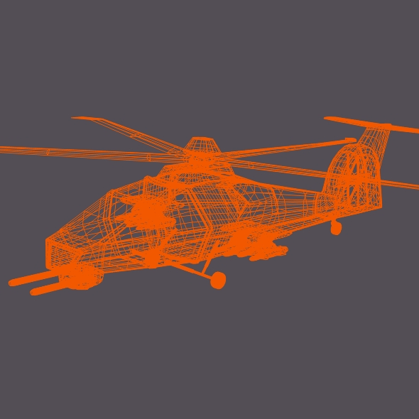 military helicopter concept 3d model 3ds fbx blend dae lwo obj 165638