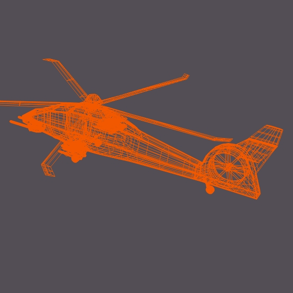 military helicopter concept 3d model 3ds fbx blend dae lwo obj 165639