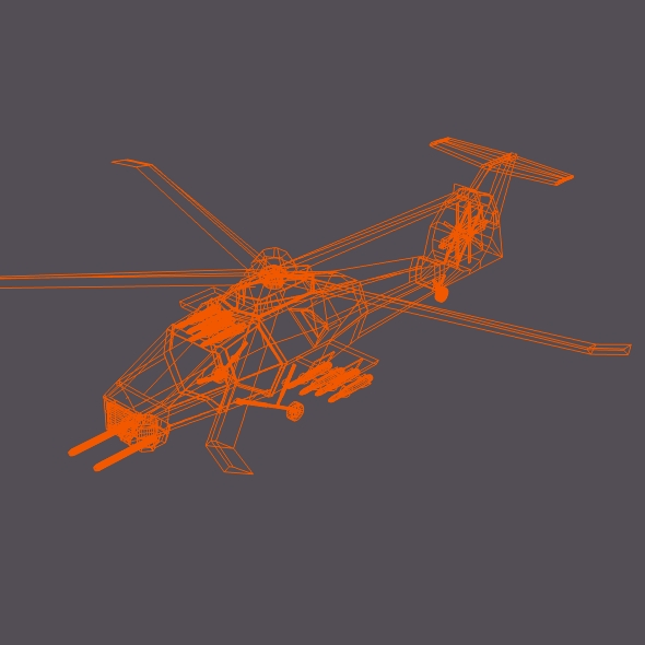 military helicopter concept 3d model 3ds fbx blend dae lwo obj 165640