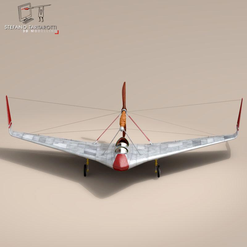 rubber band airplane 3d model 3ds dxf fbx c4d obj 145806