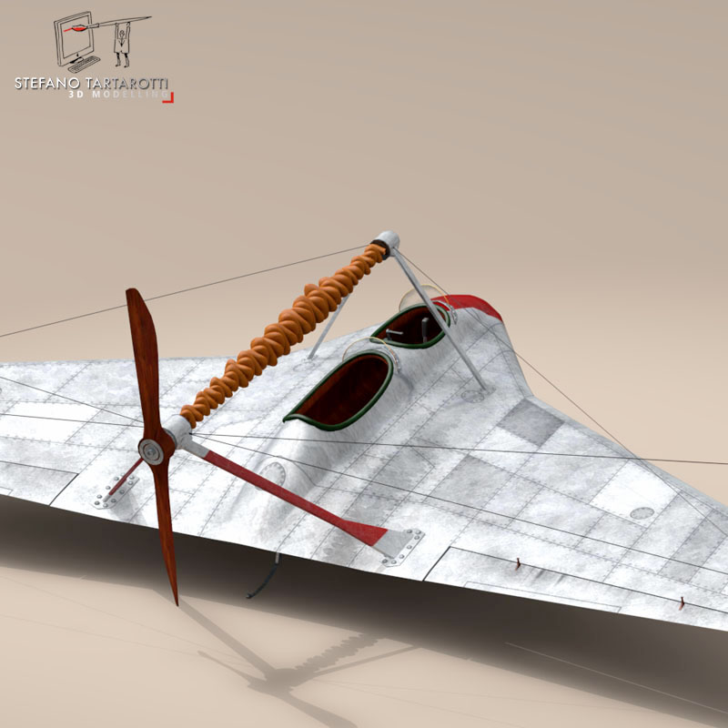 Rubber Band Airplane 3d Model Flatpyramid