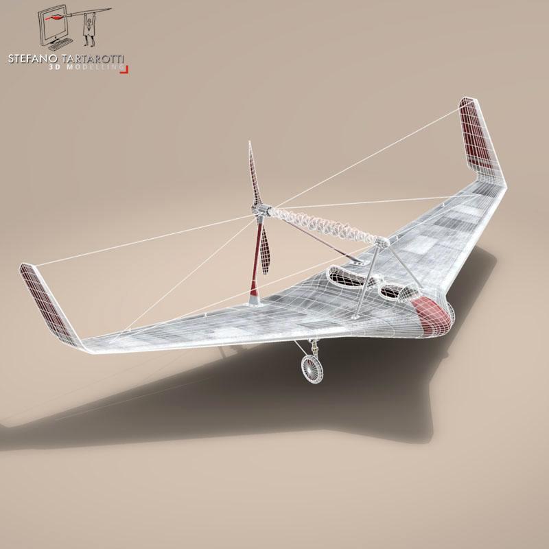 rubber band airplane 3d model 3ds dxf fbx c4d obj 145810