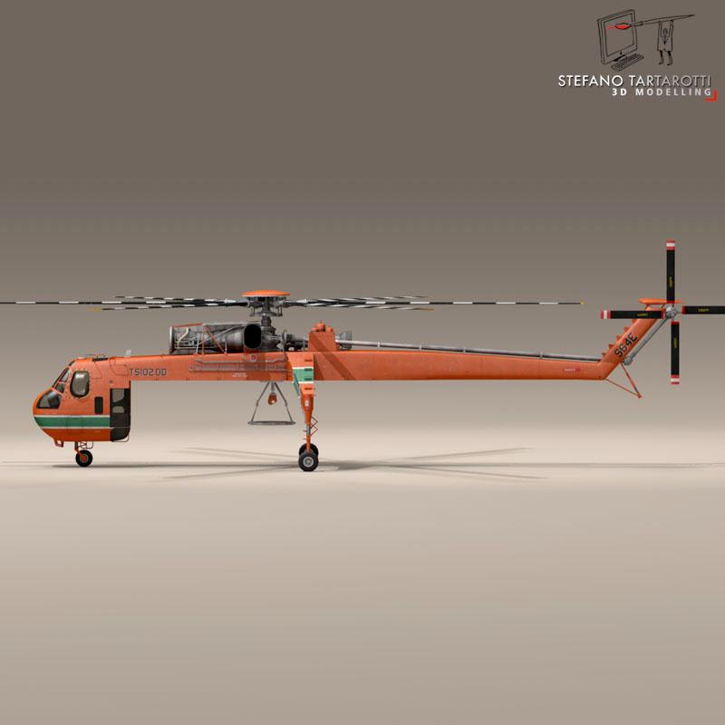 s 64e skycrane 3d model 3ds dxf fbx c4d obj 150699