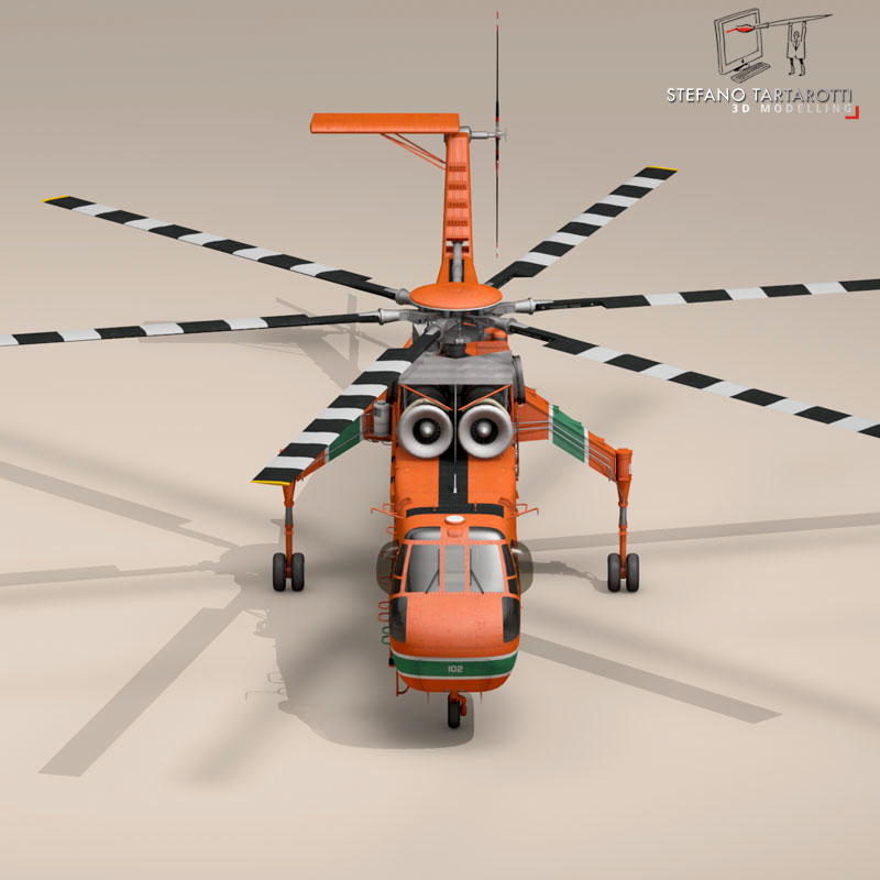 s 64e skycrane 3d model 3ds dxf fbx c4d obj 150701