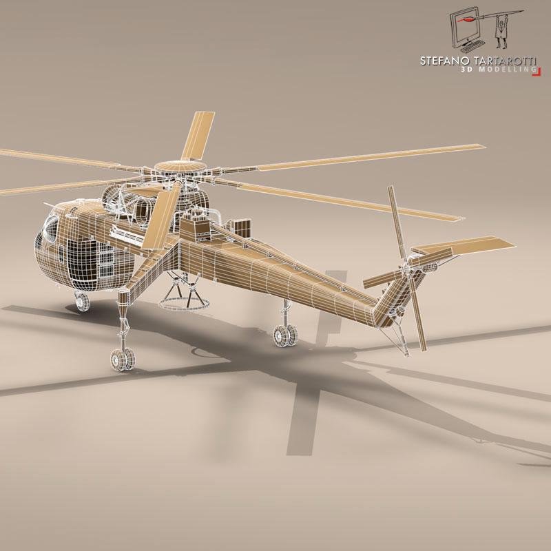 s 64e skycrane 3d model 3ds dxf fbx c4d obj 150706