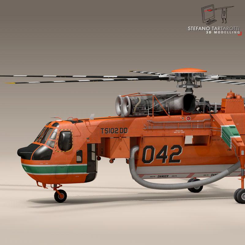 s64f skycrane 3d model 3ds dxf fbx c4d dae obj 150681