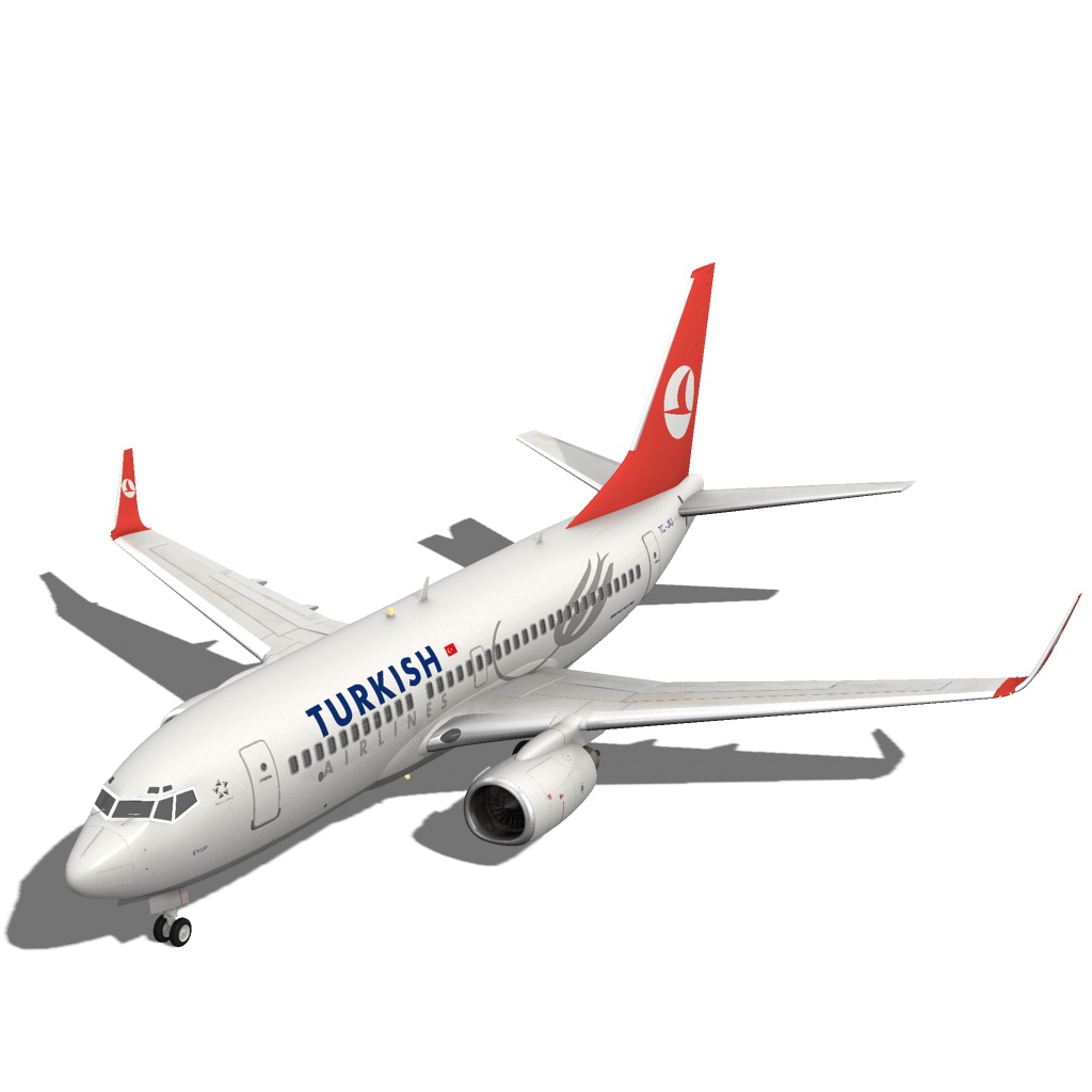 turkish airlines boeing 737-700w 3d model max fbx c4d ma mb obj 120280