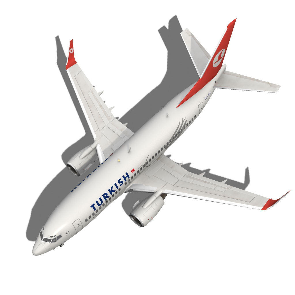 turkish airlines boeing 737-700w 3d model max fbx c4d ma mb obj 120281