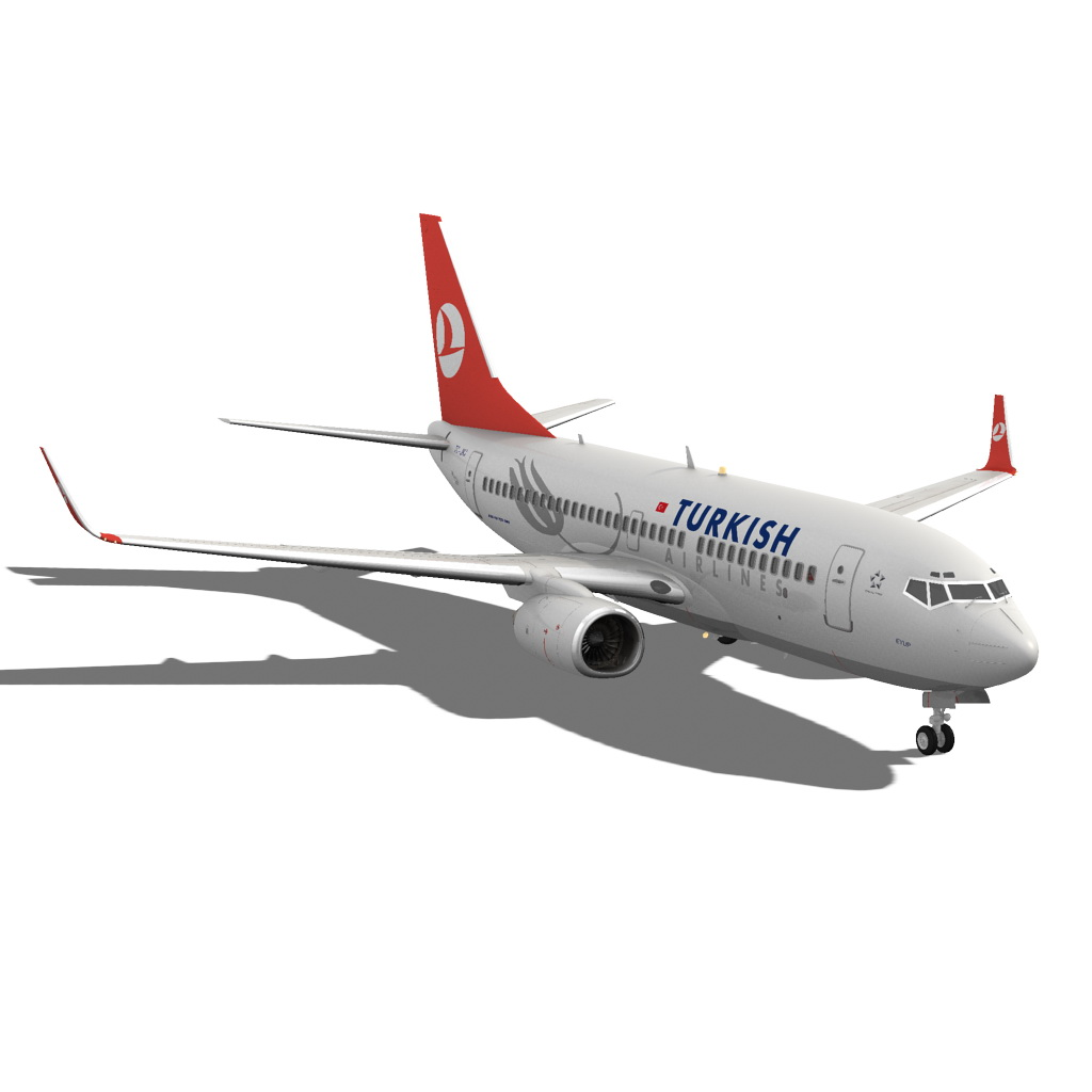 turkish airlines boeing 737-700w 3d model max fbx c4d ma mb obj 120283