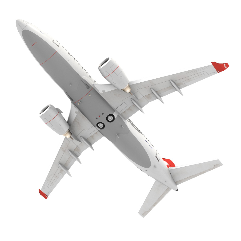 turkish airlines boeing 737-700w 3d model max fbx c4d ma mb obj 120284