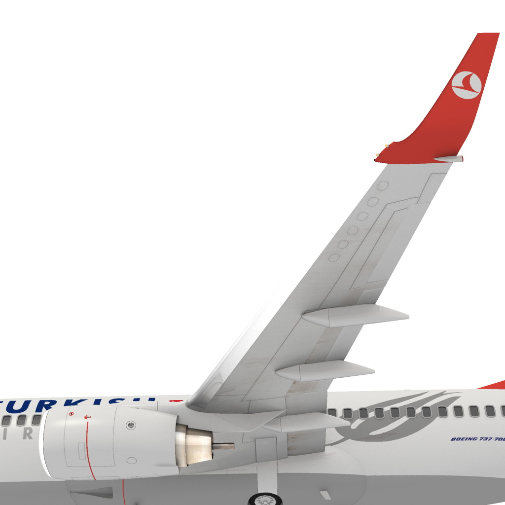 turkish airlines boeing 737-700w 3d model max fbx c4d ma mb obj 120286