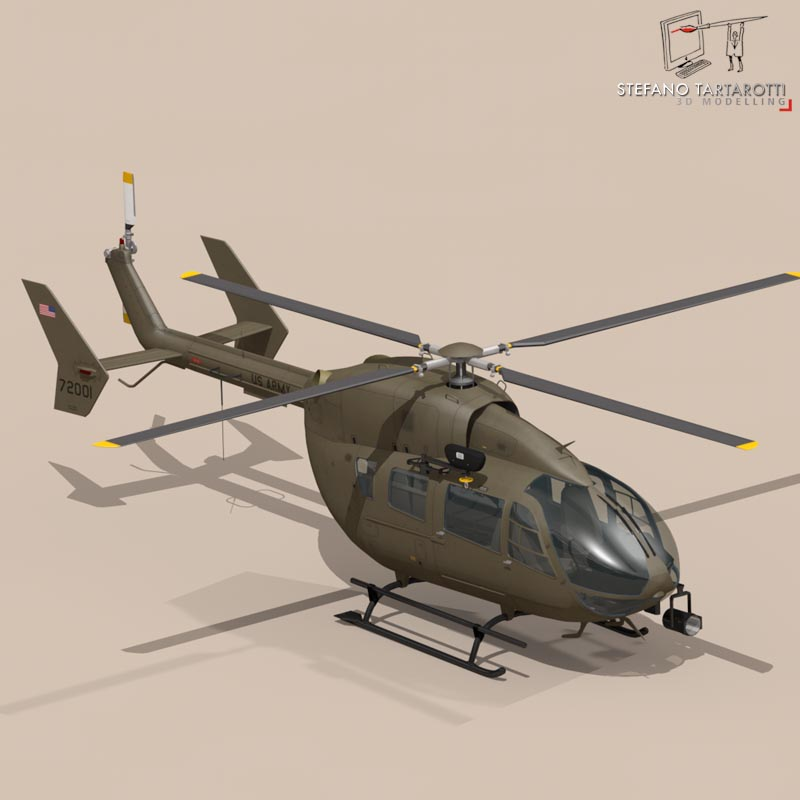 uh72 lakota 3d model 3ds fbx c4d dae obj 166071