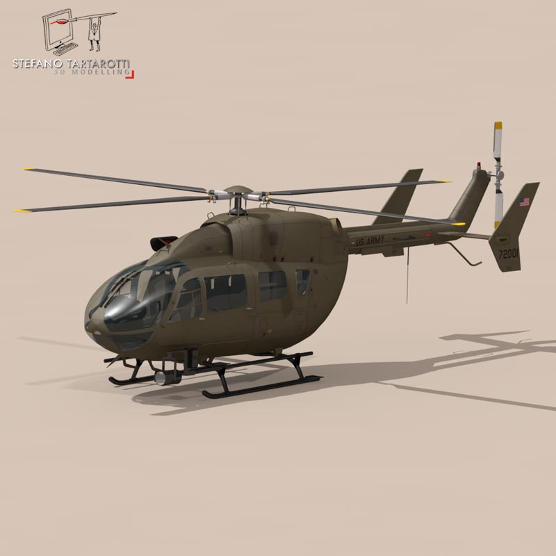 uh72 lakota 3d model 3ds fbx c4d dae obj 166073