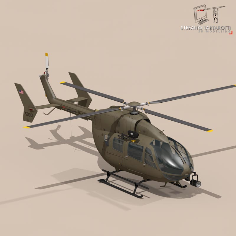 uh72 lakota 3d model 3ds fbx c4d dae obj 166074