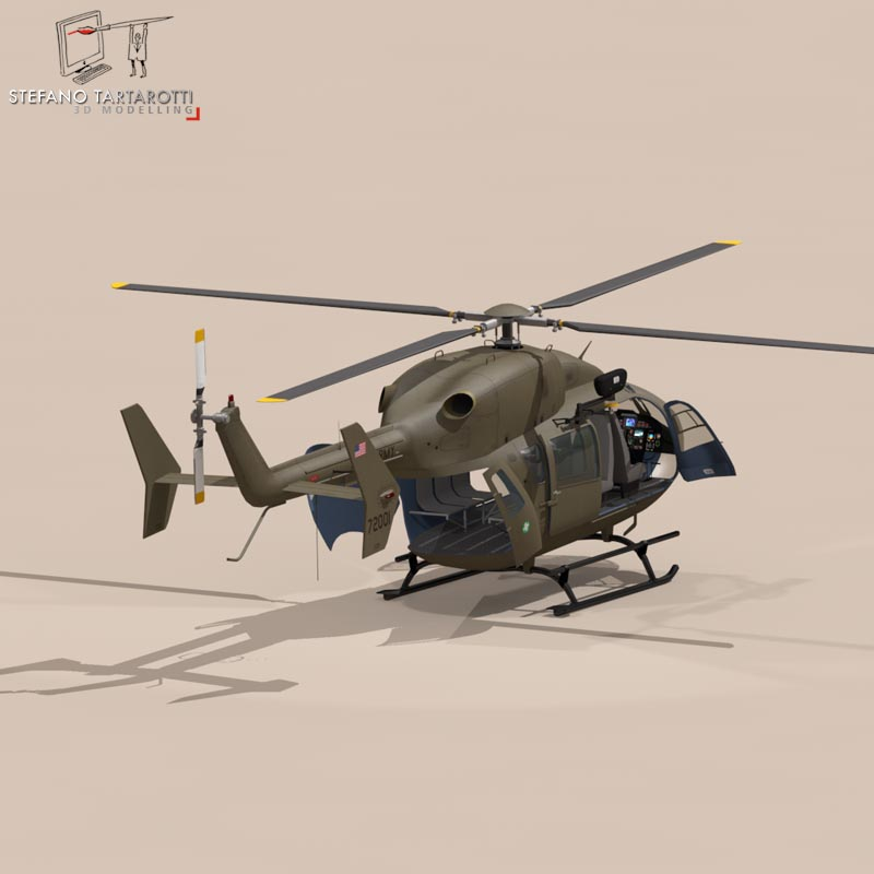 uh72 lakota 3d model 3ds fbx c4d dae obj 166075