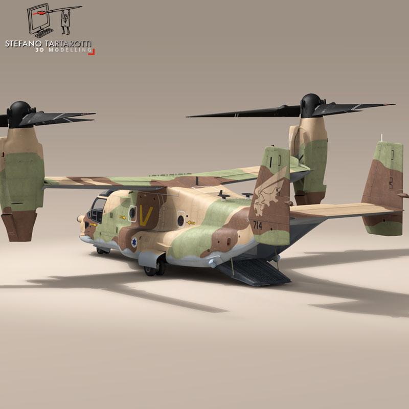 v-22 osprey iaf 3d model 3ds dxf fbx c4d dae obj 153337