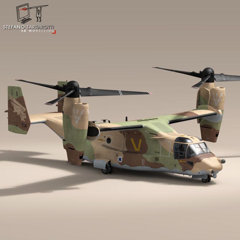 v-22 osprey iaf 3d model 3ds dxf fbx c4d dae obj 153338