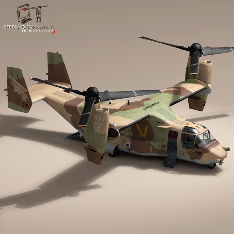 v-22 osprey iaf 3d model 3ds dxf fbx c4d dae obj 153345