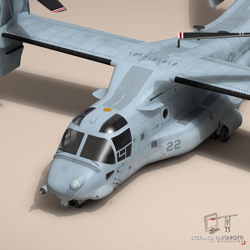 v-22 osprey us marines 3d model 3ds dxf fbx c4d dae obj 153322
