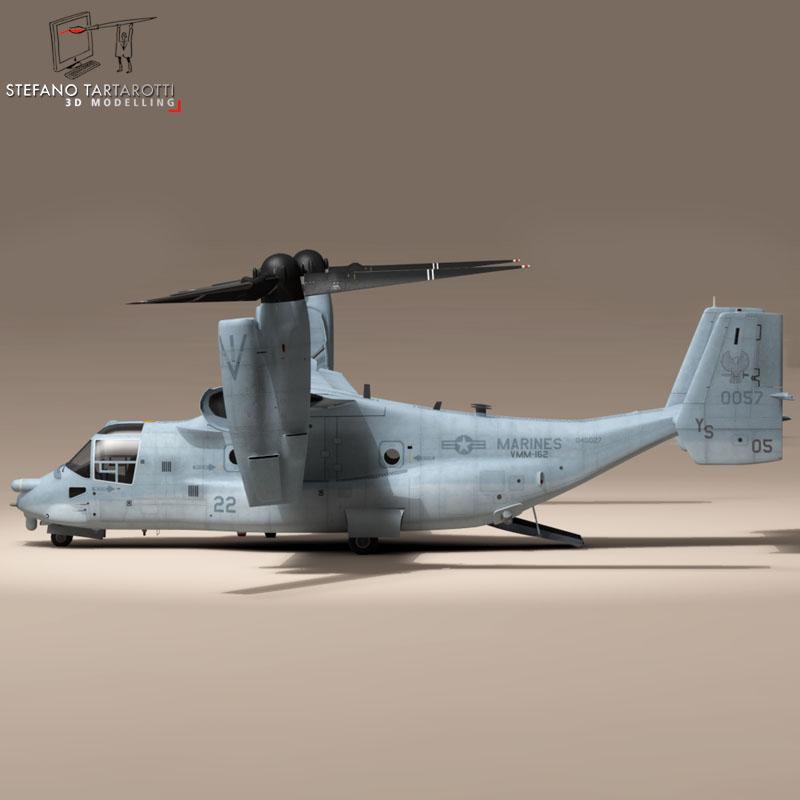 v-22 osprey us marines 3d model 3ds dxf fbx c4d dae obj 153323