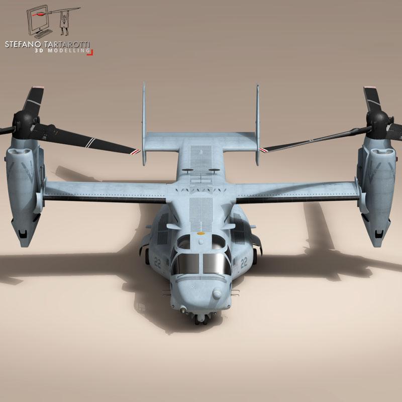 v-22 osprey us marines 3d model 3ds dxf fbx c4d dae obj 153324