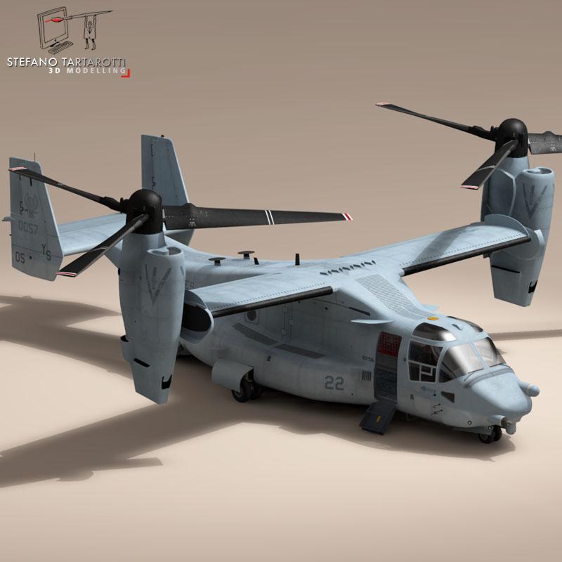 v-22 osprey us marines 3d model 3ds dxf fbx c4d dae obj 153326
