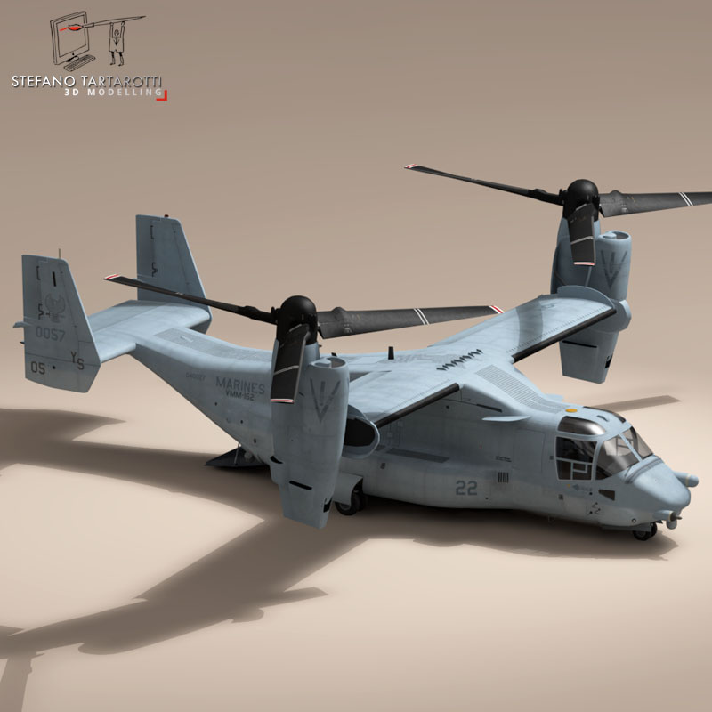 v-22 osprey us marines 3d model 3ds dxf fbx c4d dae obj 153327