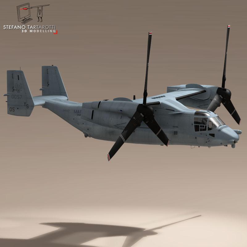 v-22 osprey us marines 3d model 3ds dxf fbx c4d dae obj 153328